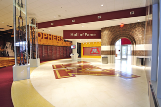 Terrazzo Project - education - University of Minnesota - TCF Stadium - Hall of Fame - Minneapolis, Minnesota